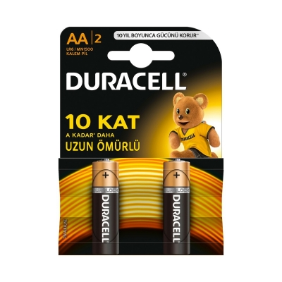 Duracell Kalem Pil -AA-  2 li Blister