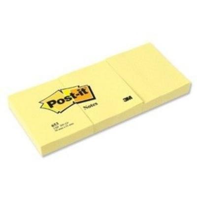 Post-it 653 Not Sarı 38X51 mm 100 yp. 3 lü