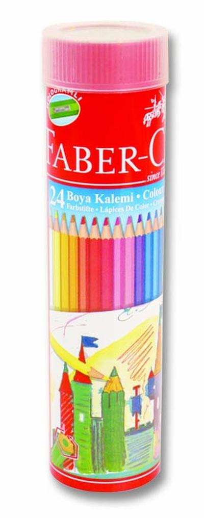 Faber Kuruboya 24 Renk Metal Tüp 116524