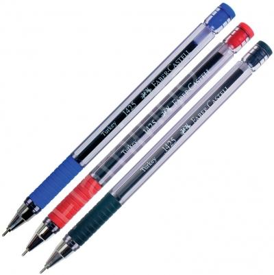 Faber Castell Tükenmez Kalem İğne Uç Kırmızı 142521- 10 Adet