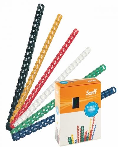 Sarff 15312017 Plastik Spiral 10 mm 100 lü / Renk Seçenekli Ürün